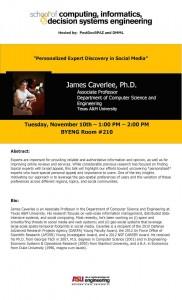 Invited Talks James Caverlee