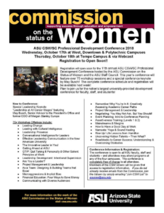 Flier for the conference