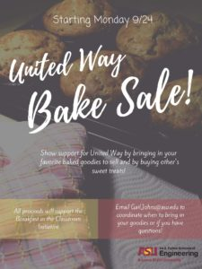 United Way Bake Sale flier