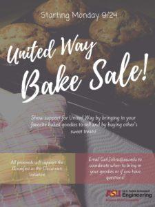 United Way Bake Sale flier
