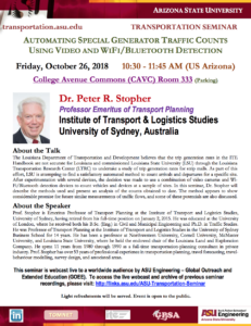 ASU Transportation Seminar flier.