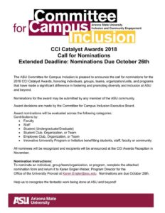 CCI Catalyst Nominations flier