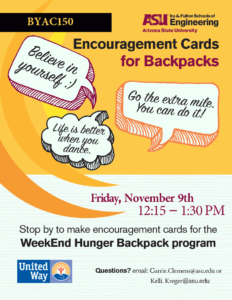 Encouragement cards flier