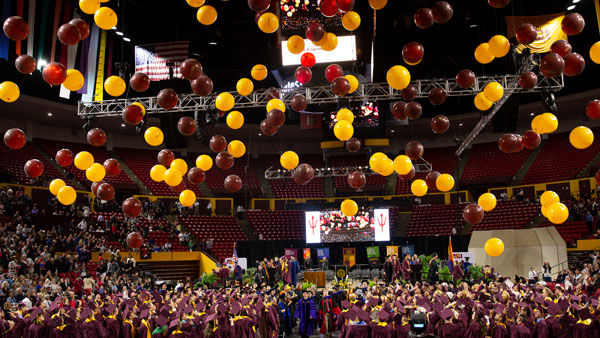 Convocation balloon drop