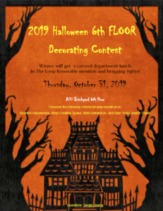 2019 Halloween Decorating Contest flyer