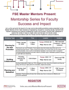 FSE Master Mentors Present: Mentorship Series for Faculty Success and Impact