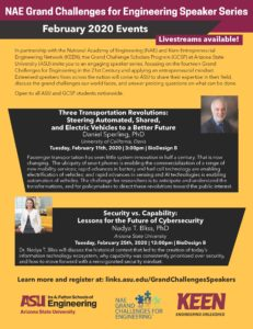 NAE Grand Challenges Speaker Series February 2020